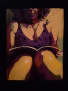 Drew_Purple Dress_2016_20x20_oil on canvas
