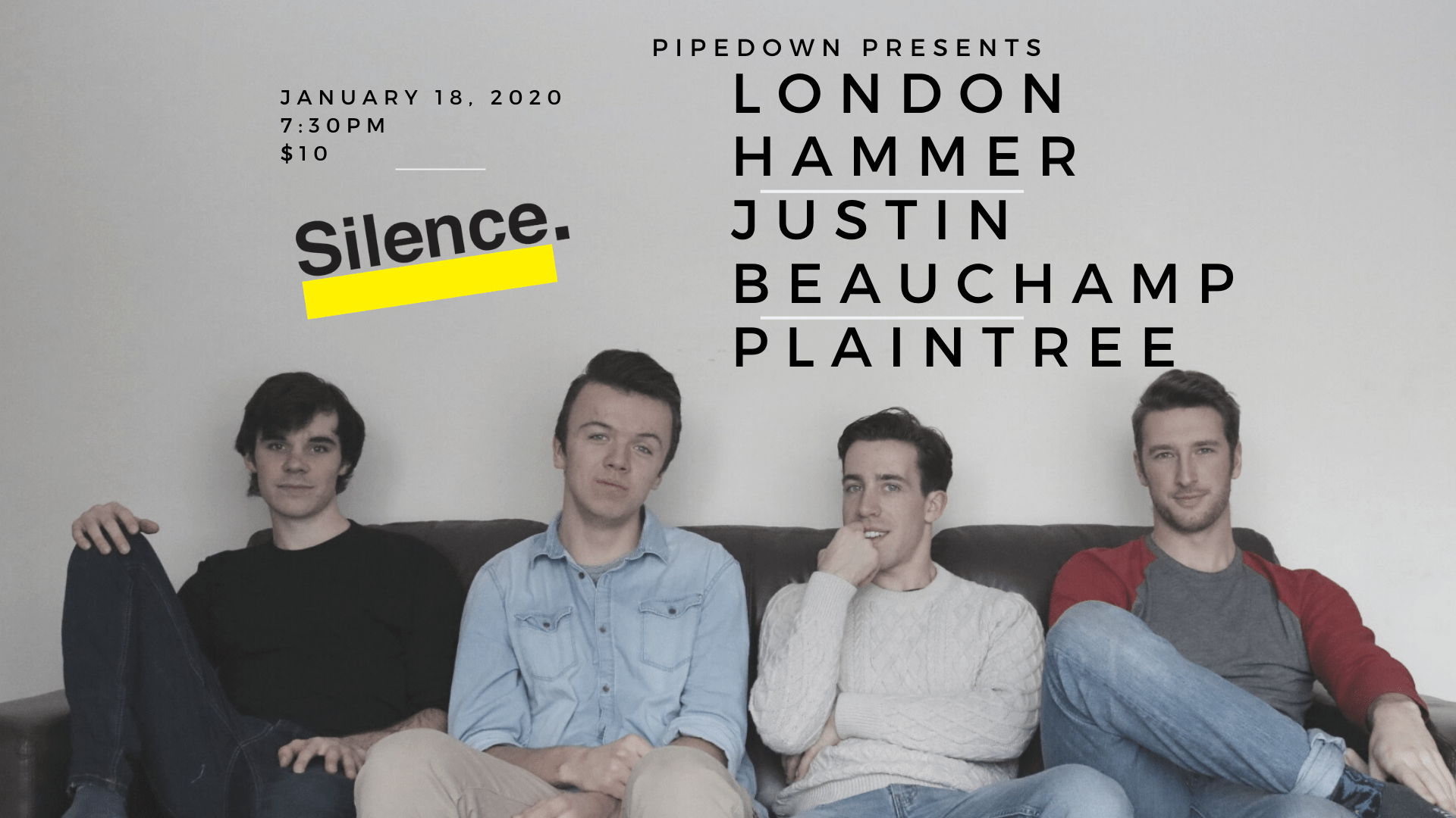 Pipedown! Presents London Hammer Justin Beauchamp Plaintree